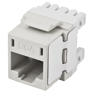 Hubbell Premise Wiring HJ6AW25 Hubbell Wiring HJ6AW25 Nextspeed® Universal CAT 6A Keystone Jack; 110 IDC, White