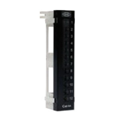 Hubbell Premise Wiring HP6A12U Hubbell Premise HP6A12U NextSpeed® MUTOA Universal 89D Ascent Category 6A Patch Panel; 12-Port, Steel, Black