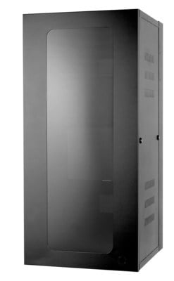 Hubbell Premise Wiring HSQ4826 Hubbell Wiring HSQ4826 Quadcab® Network Cabinet with Window Door; 48 Inch Height x 26 Inch Depth, Wall Mount, Black