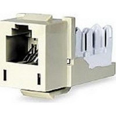 Hubbell Premise Wiring HXJ5EEI25 Hubbell Premise HXJ5EEI25 Xcelerator™ Speedgain™ Universal Standard Size Category 5e Modular Datacom Jack; 8P8C, Electric Ivory