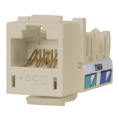 Hubbell Premise Wiring HXJ5EOW25 Hubbell Premise HXJ5EOW25 Xcelerator™ Speedgain™ Universal Standard Size Category 5e Modular Datacom Jack; 8P8C, Off White