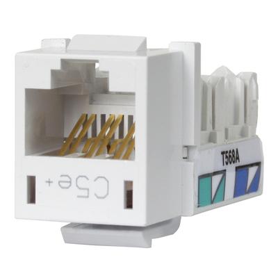 Hubbell Premise Wiring HXJ5EW Hubbell Premise HXJ5EW Xcelerator™ Speedgain™ Universal Standard Size Category 5e Modular Datacom Jack; 8P8C, White
