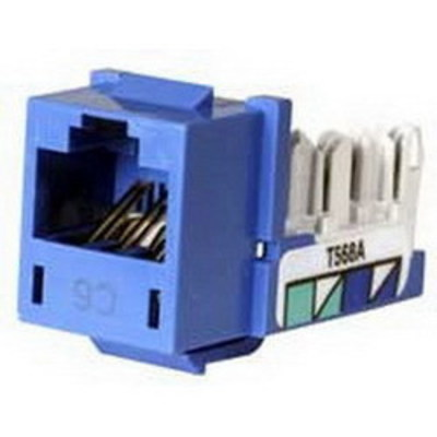 Hubbell Premise Wiring HXJ6B Hubbell Premise HXJ6B Xcelerator™ Nextspeed® Universal Category 6 Modular Jack; 8P8C, Blue