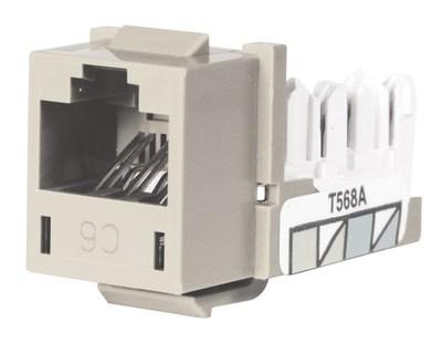 Hubbell Premise Wiring HXJ6OW Hubbell Premise HXJ6OW Xcelerator™ Nextspeed® Universal Category 6 Jack; 8P8C, Off White
