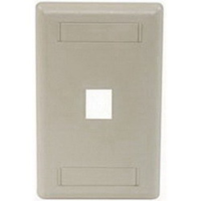 Hubbell Premise Wiring IFP11EI Hubbell Premise IFP11EI iStation™ 1-Gang Standard IFP Faceplate; Flush, (1) Port, ABS, Electric Ivory