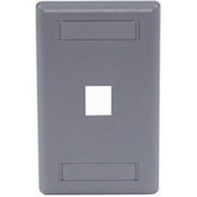 Hubbell Premise Wiring IFP11LA Hubbell Premise IFP11LA 1-Gang Rear-Loading Faceplate; Box Eliminator/Flush, (1) Port, Keystone, Flame Retardant ABS, Light Almond