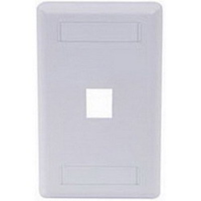 Hubbell Premise Wiring IFP11W Hubbell Premise IFP11W iStation™ 1-Gang Standard IFP Faceplate; Flush, (1) Port, ABS, White