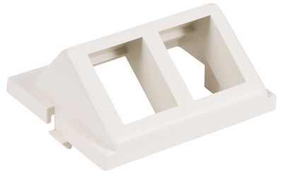 Hubbell Premise Wiring IM2KA15W Hubbell Wiring IM2KA15W Istation™ Angled Unloaded 1.5 Unit 2-Gang AV Keystone Module; 2-Port, Flush Mount, ABS, White