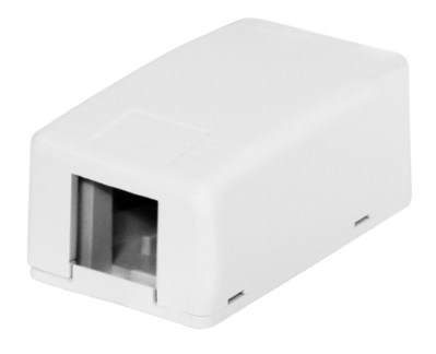 Hubbell Premise Wiring ISB1WP Hubbell Wiring ISB1WP ISB Surface Mount Box; 1-Port, 2.380 Inch Width x 1.080 Inch Depth x 1.300 Inch Height, High Impact Thermoplastic, White