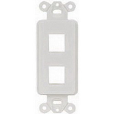 Hubbell Premise Wiring ISF2EI Hubbell Premise ISF2EI 1-Gang Decorator Outlet Frame; Screw, (2) Port, Keystone, High Impact Nylon, Electric Ivory