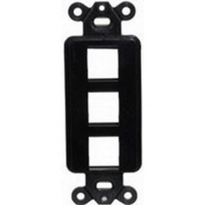 Hubbell Premise Wiring ISF3GY Hubbell Premise ISF3GY 1-Gang Decorator Outlet Frame; Screw, (3) Port, Keystone, High Impact Nylon, Gray