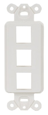 Hubbell Premise Wiring ISF3W Hubbell Wiring ISF3W Istation™ Unloaded 1-Gang Decorator Outlet Frame; 3-Port, Screw Mount, ABS, White