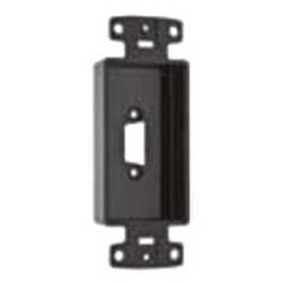 Hubbell Premise Wiring ISFBR15BK Hubbell Premise ISFBR15BK iStation™ Decorator Frame; Screw Mount, ABS, Black