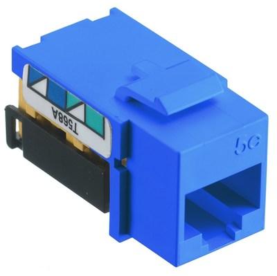 Hubbell Premise Wiring NSJ5EB Hubbell Wiring NSJ5EB NetSelect® Universal A/B Standard Size Category 5e Modular Voice/Data Jack; Screw Mount, 8P, Blue