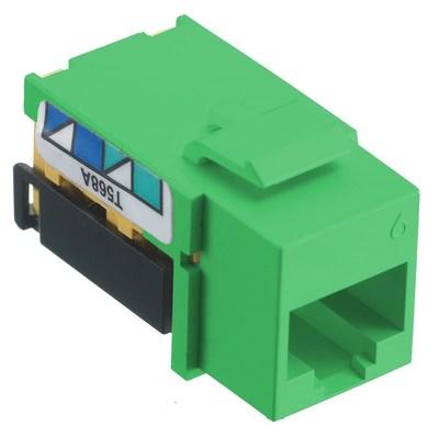 Hubbell Premise Wiring NSJ6GN Hubbell Wiring NSJ6GN Netselect® CAT 6 Modular Jack; 8P, Screw Mount, Green