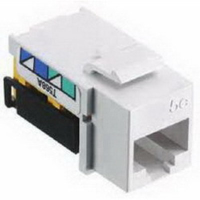 Hubbell Premise Wiring NSJ6W Hubbell Wiring NSJ6W NetSelect® Universal A/B Category 6 Modular Voice/Data Jack; Screw Mount, 8P, White