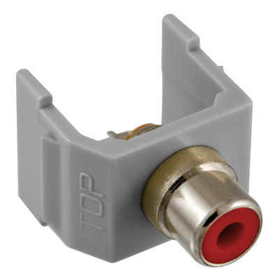 Hubbell Premise Wiring SFRCRGY SFRCRGY HUBBELL PRE SNAP-FIT, RD RCA,SOLDER,GY HOUSING