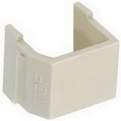 Hubbell Premise Wiring SFSBW10 Hubbell Premise SFSBW10 iSTATION™ Blank Insert; Snap-Fit Mount, White, 10/Pack