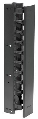 Hubbell Premise Wiring VS76 Hubbell Premise VS76 NextFrame® Z-Channel Organizer; Vertical Mount, Black