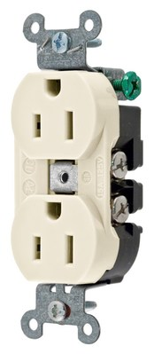 Hubbell Wiring Device-Kellems 5252ALA Hubbell 5252ALA Receptacle DUP SB HUBPRO