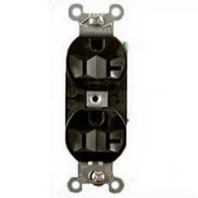 Hubbell Wiring Device-Kellems 5262BLK Hubbell Wiring 5262BLK Hubbell-Pro™ Heavy Duty Specification Grade Traditional Straight Blade Duplex Receptacle; 2-Pole, 3-Wire, 15 Amp, 125 Volt, 5-15R NEMA, Screw Mount, Black