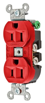 Hubbell Wiring Device-Kellems 5262R Hubbell 5262R Rcpt Dup Sb Hubpro 15A 125V Sm Rd