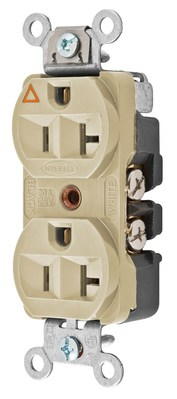 Hubbell Wiring Device-Kellems CR5352IGI Hubbell CR5352IGI Wiring Devices Connector, Power ENTRY, Receptacle, 20A