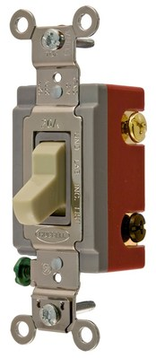 Hubbell Wiring Device-Kellems CS1224IU Hubbell Wiring CS1224IU Hubbell-Pro™ Heavy Duty Specification Grade Construction Series 4-Way Switch; 120 - 277 Volt AC, 20 Amp, Two Position