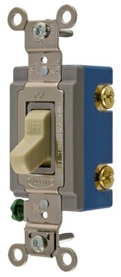 Hubbell Wiring Device-Kellems HBL1202I Hubbell HBL1202I Dp Tog Ind Grd 15A 120277V Iv