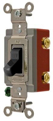 Hubbell Wiring Device-Kellems HBL1221BK Hubbell HBL1221BK Sp Tog Ind Grd 20A 120277V Bk