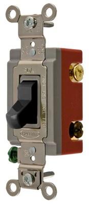 Hubbell Wiring Device-Kellems HBL1223BK Hubbell HBL1223BK 3 Way Tog Ind Grd 20A 120277V Bk