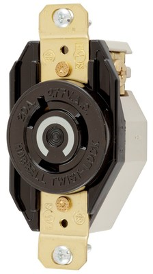 Hubbell Wiring Device-Kellems HBL2330 Hubbell HBL2330 Wiring Device-Kellems Receptacle, Single, 20 A, L7-20