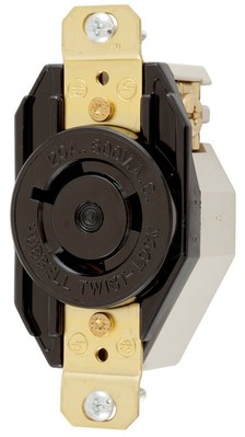 Hubbell Wiring Device-Kellems HBL2350 Hubbell HBL2350 Wiring Device-Kellems Receptacle, Single, 20 A, L9-20