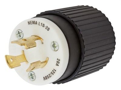Hubbell Wiring Device-Kellems HBL2361 Hubbell HBL2361 Lkg Plug 20A 125250V L1020P BW