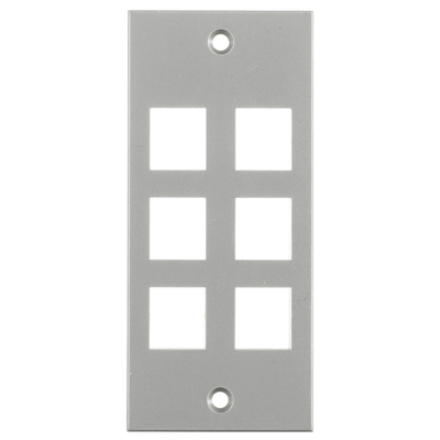 Hubbell Wiring Device-Kellems HBL317SGY Hubbell HBL317SGY HUBW Gray Screw 6 PORT PLATE
