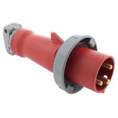 Hubbell Wiring Device-Kellems HBL360P7W Hubbell Wiring HBL360P7W Watertight Pressure Terminal Screw Pin and Sleeve Inlet; 60 Amp, 480 Volt, Zytel 801 Nylon, 2-Pole, Red