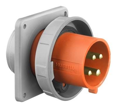 Hubbell Wiring Device-Kellems HBL4100B12W Hubbell HBL4100B12W HUBW INLET-3P4W100A250V
