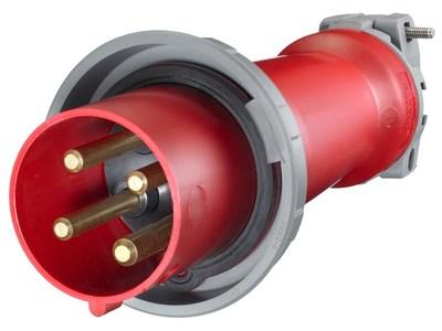 Hubbell Wiring Device-Kellems HBL4100P7W Hubbell HBL4100P7W Ps Iec Plug 3P4W 100A 3P 480V WT