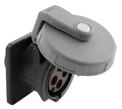 Hubbell Wiring Device-Kellems HBL4100R5W Hubbell HBL4100R5W Wiring Device-Kellems Receptacle, 3 P, 4 W