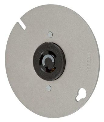 Hubbell Wiring Device-Kellems HBL4761 Hubbell HBL4761 Cat HBL4760 On Round 4 Box Cvr