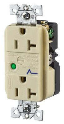 Hubbell Wiring Device-Kellems HBL5362ISA Hubbell HBL5362ISA Wiring Device-Kellems Receptacle,surge suppressor,2