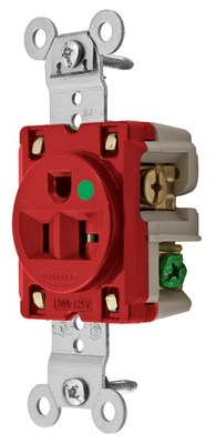 Hubbell Wiring Device-Kellems HBL8310R Hubbell HBL8310R Sgl Rcpt Hg 20A 125V 520R Rd
