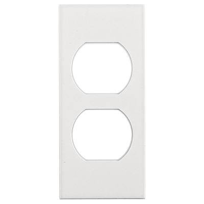 Hubbell Wiring Device-Kellems HBLST302WA Hubbell Wiring HBLST302WA Multi-Connect® 1-Gang Face Plate; Non-Metallic, White