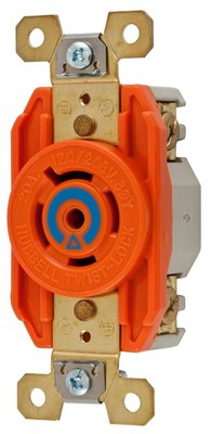 Hubbell Wiring Device-Kellems IG2510 Hubbell IG2510 Wiring Device-Kellems Receptacle,isolated ground,l21-20