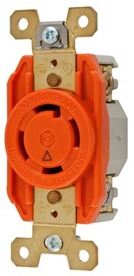 Hubbell Wiring Device-Kellems IG2710 Hubbell IG2710 Lkg Rcpt Ig 30A 125250V L1430R Or