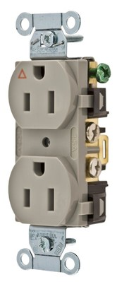 Hubbell Wiring Device-Kellems IG5252GY Hubbell IG5252GY Comm 15A Side Back Wired Ig Dup Gy