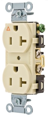 Hubbell Wiring Device-Kellems IG5352I Hubbell IG5352I Comm 20A Side Back Wired Ig Dup Iv