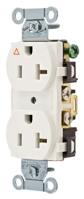 Hubbell Wiring Device-Kellems IG5352W Hubbell IG5352W Comm 20A Side Back Wired Ig Dup Wh