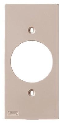 Hubbell Wiring Device-Kellems KP720AL Hubbell Wiring KP720AL 1-Gang Faceplate; Single Receptacle, Flush Mount, Plastic, Almond