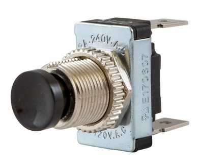 Hubbell Wiring Device-Kellems MH11 Hubbell MH11 Marine Push Button Horn Switch